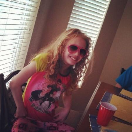 My girl in her new sunglasses