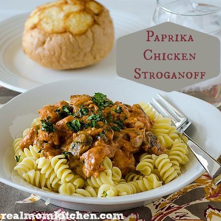 Paprika Chicken Stroganoff | realmomkitchen.com