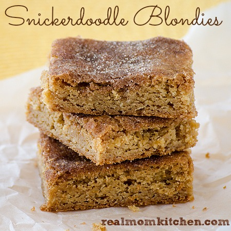 Snickerdoodle Blondies | realmomkitchen.com