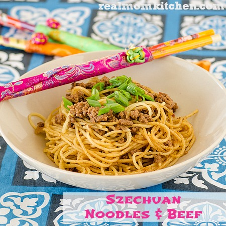 Szechuan Noodles and Beef | realmomkitchen.com