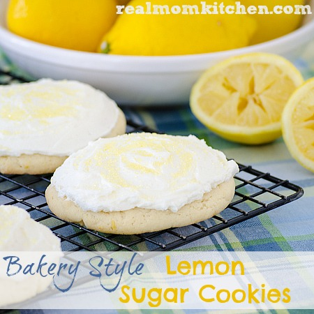 Bakery Style Lemon Sugar Cookies | realmomkitchen.com