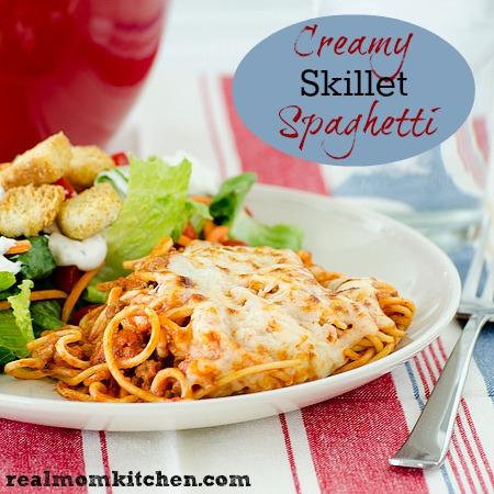 Creamy Skillet Spaghetti