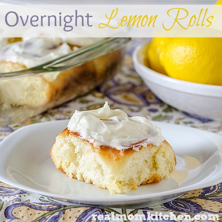 Overnight Lemon Rolls | realmomkitchen.com