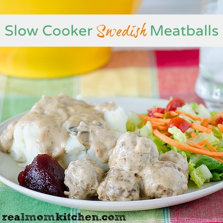 Slow Cooker Swedish Meatballs | realmomkitchen.com