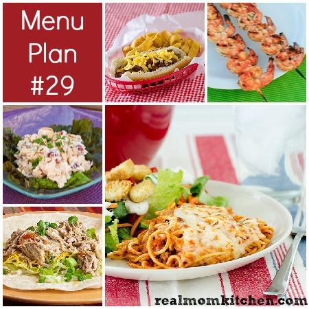 rmk menu plan week 29