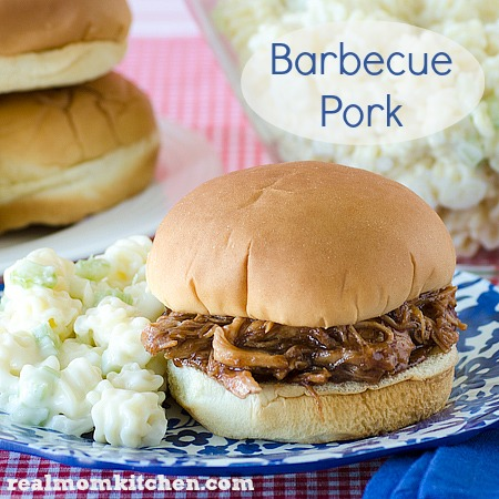 Barbecue Pork | realmomkitchen.com Only 3 ingredients!