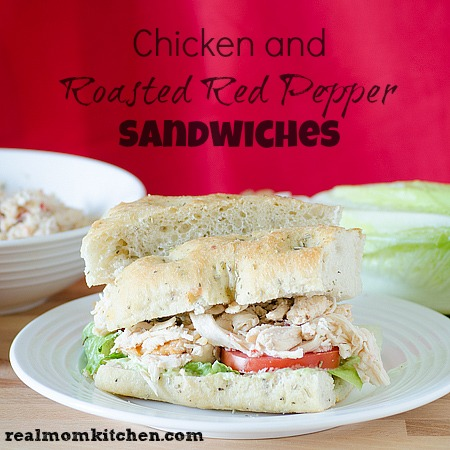 Chicken and Red Pepper Sandwich l realmomkitchen.com