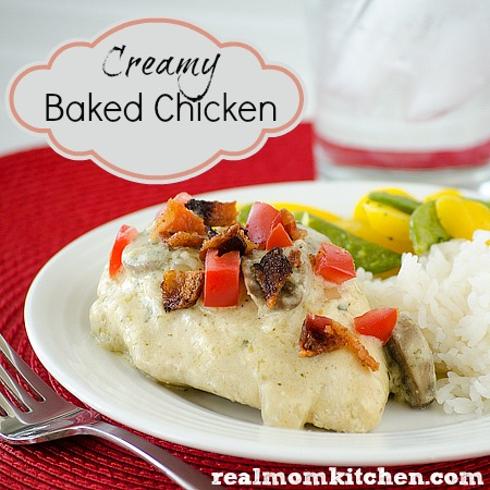 Creamy Baked Chicken labeled