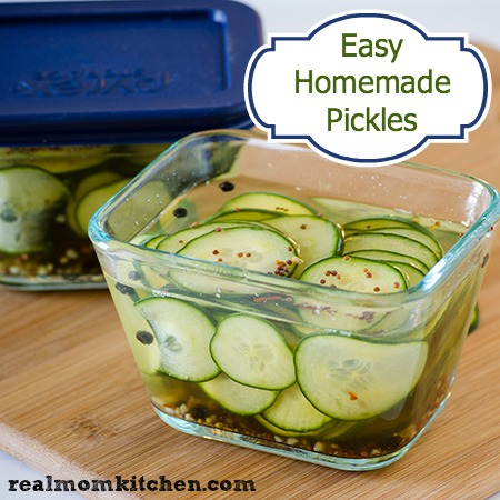 Easy Homemade Pickles Real Mom Kitchen