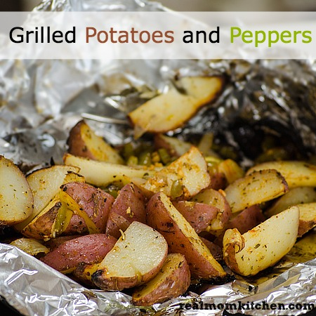 Grilled Potatoes and Peppers l realmomkitchen.com