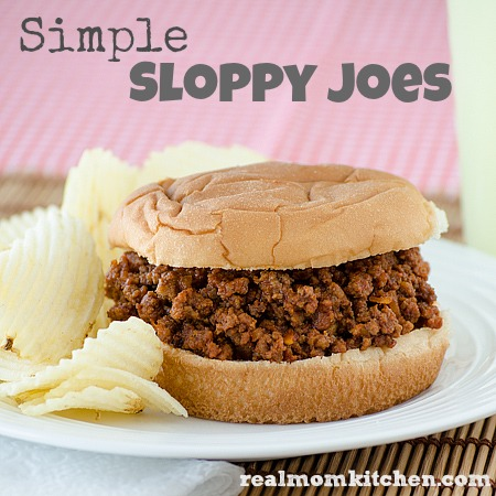 Simple Sloppy Joes l realmomkitchen.com