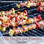 BBQ Chicken and Pineapple Skewers l realmomkitchen.com
