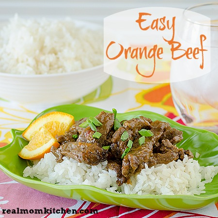 Orange Beef l realmomkitchen.com