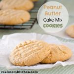 Peanut Butter Cake Mix Cookies | realmomkitchen.com