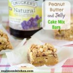 Peanut Butter and Jelly Cake Mix Bars | realmomkitchen.com