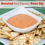 Roasted Red Pepper Bean Dip | realmomkitchen.com