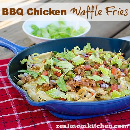 BBQ Chicken Waffle Fries