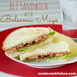 BLT Sandwich With Balsamic Mayo | realmomkitchen.com