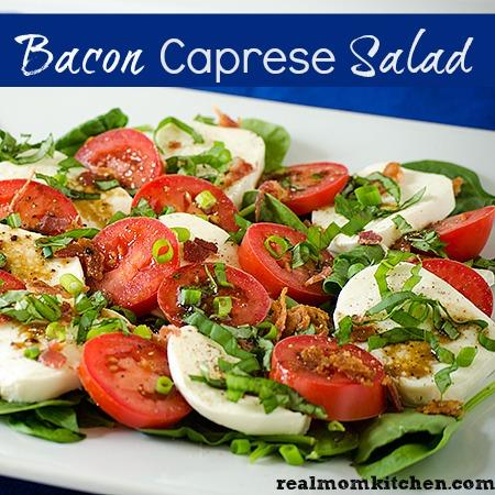 Bacon Caprese Salad | realmomkitchen.com