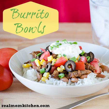 Burrito Bowls | realmomkitchen.com