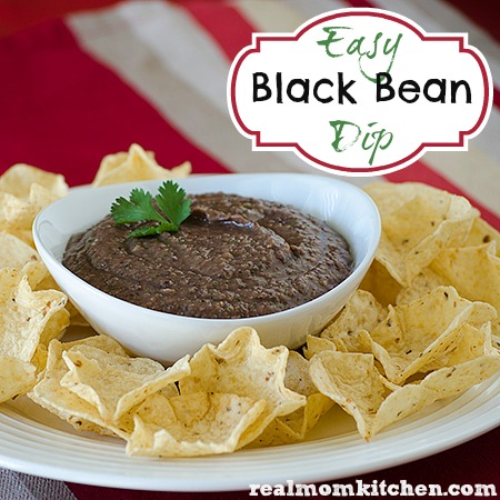 Easy Black Bean Dip | realmomkitchen.com