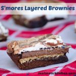 Smores Layered Brownies | realmomkitchen.com