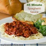 45 Minute Spaghetti Sauce | realmomkitchen.com