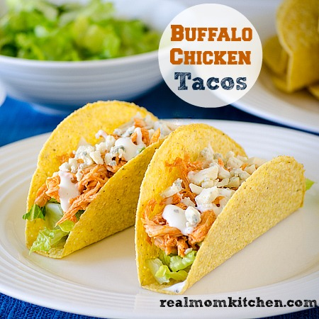 Buffalo Chicken Tacos l realmomkitchen.com