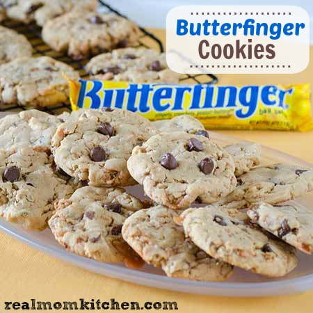 Butterfinger Cookies | realmomkitchen.com