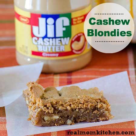 Cashew Blondies l realmomkitchen.com