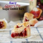 Easy Cherry Pie Sugar Cookie Bars | realmomkitchen.com