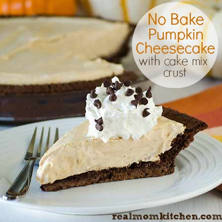 No Bake Pumpkin Cheesecake l realmomkitchen.com
