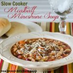 Slow Cooker Meatball Minestrone Soup l realmomkitchen.com