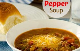 Stuffed Pepper Soup | realmomkitchen.com
