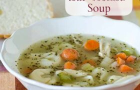 Chicken Tortellini Soup | realmomkitchen.com
