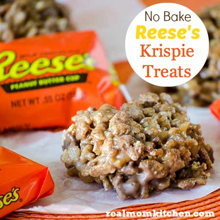 No Bake Reese's Krispie Treats