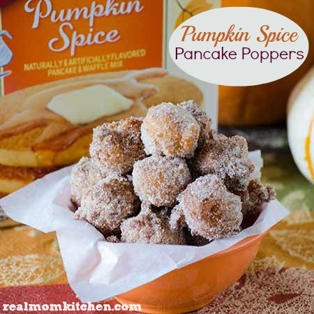 Pumpkin Spice Pancake Poppers labeled