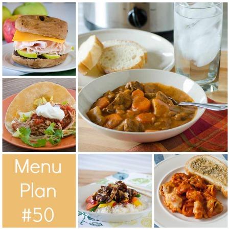 rmk menu plan 50 w/ printable shopping list