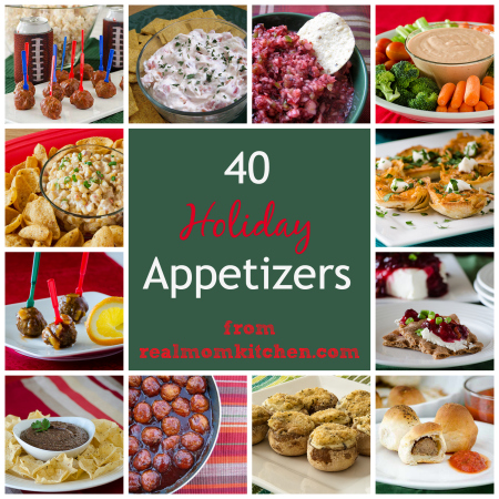 40 Holiday Appetizers | realmomkitchen.com