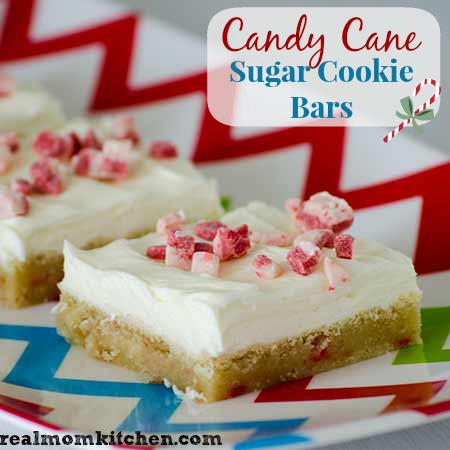 Candy Cane Sugar Cookie Bars labeled