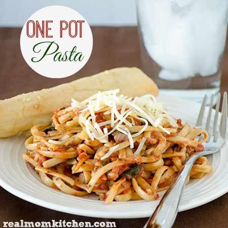 One Pot Pasta   realmomkitchen.com