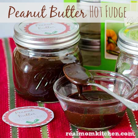 Peanut Butter Hot Fudge with free printable | realmomkitchen.com
