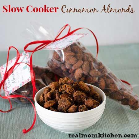 Slow Cooker Cinnamon Almonds | realmomkitchen.com