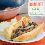 Ground Beef Philly Sandwiches   realmomkitchen.com