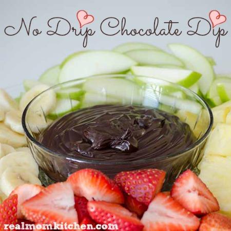 No Drip Chocolate Dip labeled