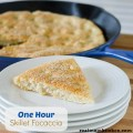 One Hour Skillet Foccacia | realmomkitchen.com