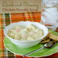 Quick and Creamy Chicken Noodle Soup | realmomkitchen.com