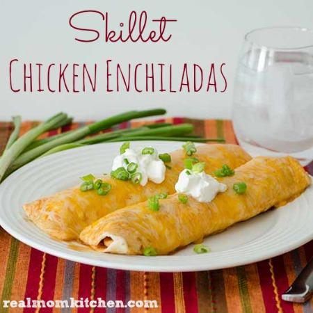 Skillet Chicken Enchiladas | realmomkitchen.com