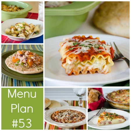 menu plan week 53