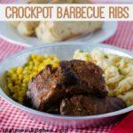 Crockpot Barbecue Ribs   realmomkitchen.com